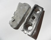 2 large silver coloured beach metal finds from North East England
