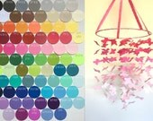 Custom Graduated Butterfly Mobile/ / / Choose Your Colors / / / Nursery Mobile, Photo Prop, Baby Shower Gift, Crib Mobile.
