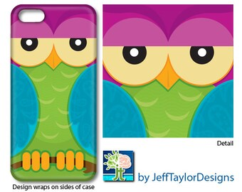 Purple Owl Phone Case for iPhone 5/5s, iPhone 6, iPhone 7, Galaxy s4 & s5