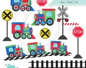 Train Clipart Download, Train Tracks Clipart, Railroad Clipart, Train Clip Art for Boys and Girls
