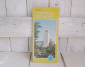 Vintage downtown Los Angeles road map California street guide 1975