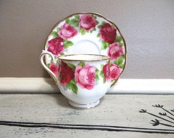 Tea Cup Royal Albert Tea Cup Pink Rose Floral Teacup Bone China Teacup Porcelain Tea Cup Trees Tea Cup Vintage Old English Rose