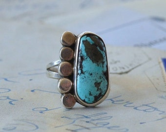 Navajo Turquoise Ring - Size 6.5