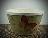 Butterflies Fly!  Handmade Ceramic  Bowl - 100% Charity Donation - Free Shipping