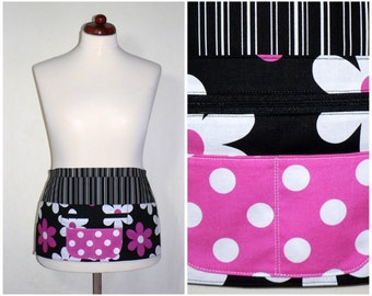 Lil Plain Jane 6 Pocket Zipper Apron -for vendors, teachers, gardeners, artists, servers- made to order in 2 sizes