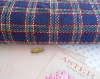 Fabric Cotton Tartan Pattern 1/2 yard