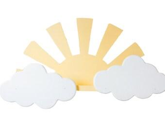 Sun and clouds shelf