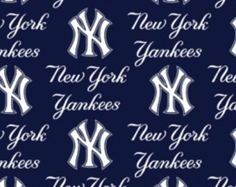 MLB major league New York Yankees cotton fabric by Fabric Traditions