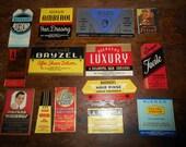 14 Antique Art Deco Mens Health and Beauty Labels NOS