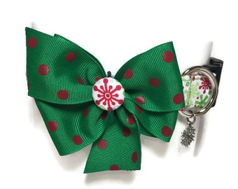 Festive Snowflakes Holiday Collar size Large