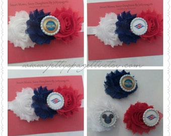 Disney Cruise Line Shabby Chic Headband or Hair Clip- DCL-Pirate Night-Cruise