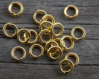 500 Gold Jump Rings Round Open  4mm 21 Gauge
