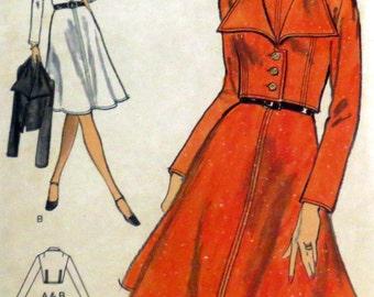 Uncut Vintage 1970s Vogue Dress & Jacket Sewing Pattern Bust 36 Vogue 8374