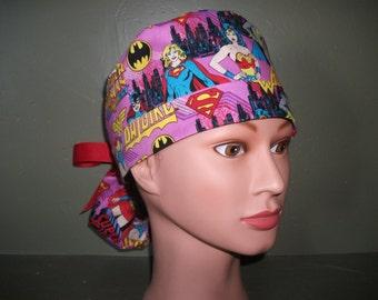 Girl power Ponytail scrub cap