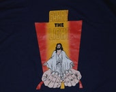 Vintage 1990's Jesus Christianity God T-Shirt Purple Church 90's Spiritual Religious