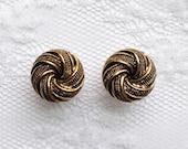 "Gold Tone Swirl  Design Vintage Style Wedding Pair Plugs Gauges Size: 0g (8mm), 00g (10mm), 1/2"" (12mm), 9/16"" (14mm), 5/8"" (16mm)"
