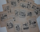 10 Marmaduke cartoons book pages 1970s 80s Vintage paper ephemera lot illustrations altered art scrap project supplies