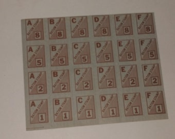 WWII era ration stamps full page sheet of 24 Vintage military paper ephemera scrapbooking altered art supplies