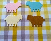 50 Hand Punched LAMB Die cuts 1 inch Confetti, Birthday party decorations,Invitations,scrapbooking,