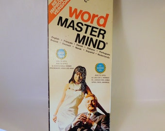 Vintage GAME / Word MASTER MIND - Invicta / Retro 1970's / England / 10 Languages / Home School / Spelling - Education - Learning