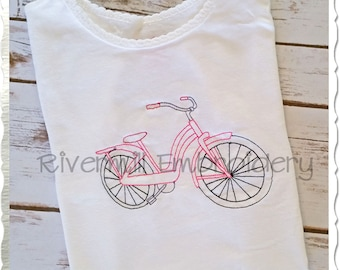 Vintage Style Bicycle Machine Embroidery Design