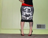 Fame And Fortune - Marilyn Monroe - Black Pencil Skirt