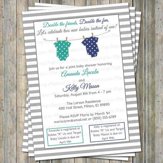 Joint Baby Shower Invitations is an amazing ideas you had to choose for invitation design