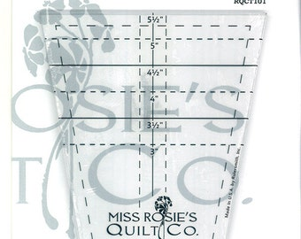 THE CRUMBLER TEMPLATE- Miss Rosie's Quilt Company- ruler to cut tumbler blocks