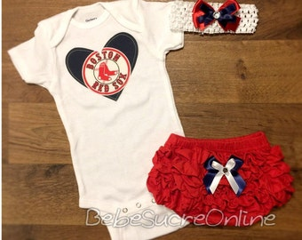 Boston Red Sox Outfit and Headband