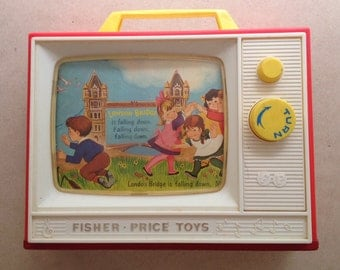 vintage Fisher Price Two Tunes Tv
