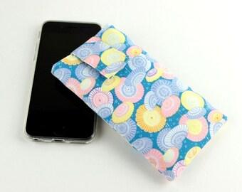 iPhone 6 sleeve, Mobile Phone Cover,fabric iPod cover,handmade iphone case,Umbrella Blue