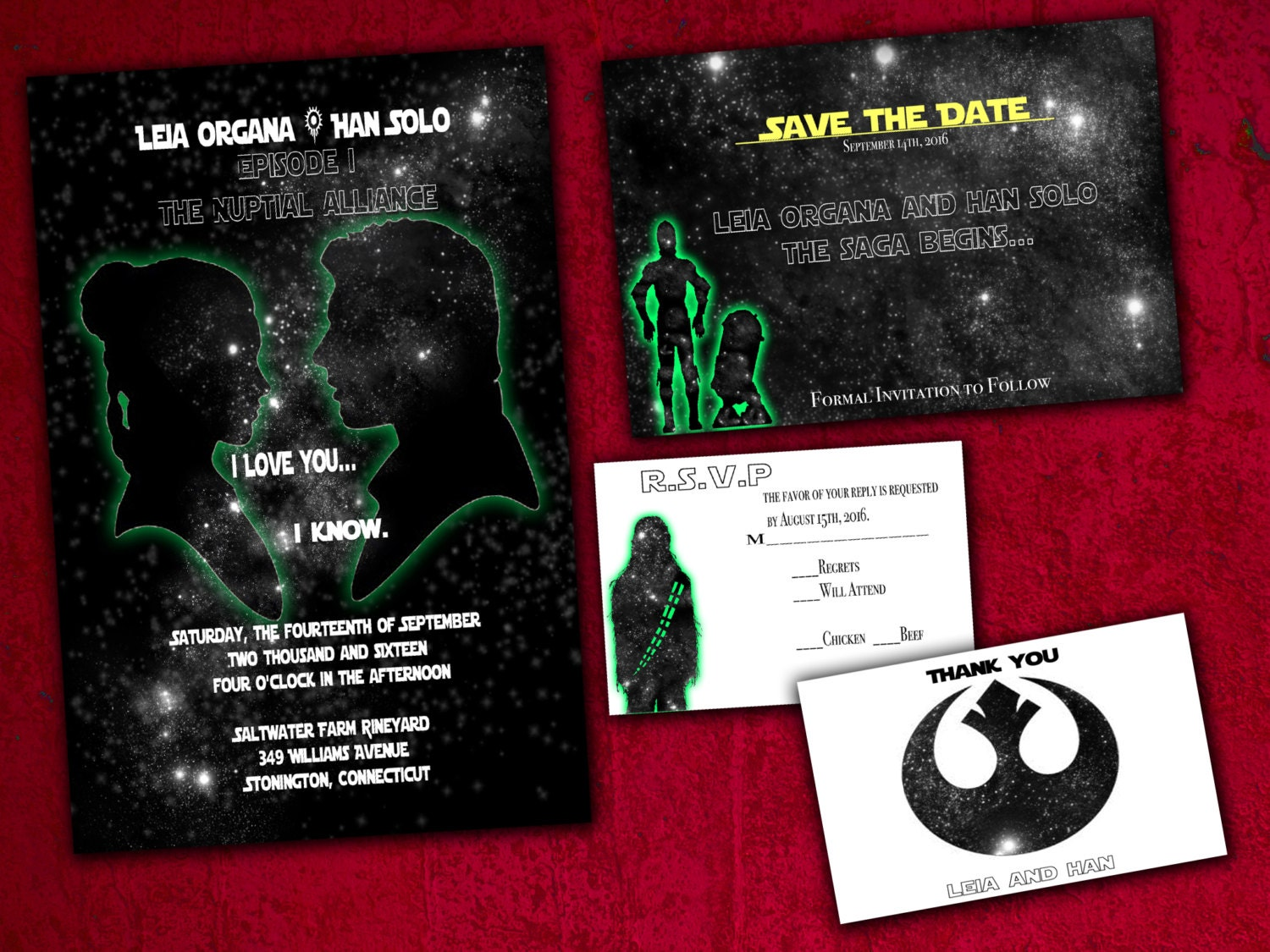 star wars wedding invitations | etsy, Wedding invitations