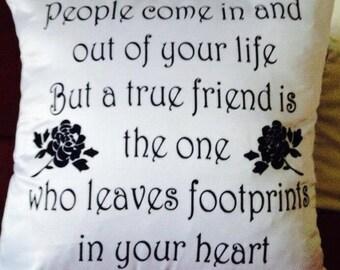True Friend cushion cover