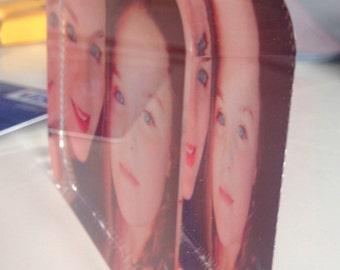 Beautiful glass photo block 3x2 inches
