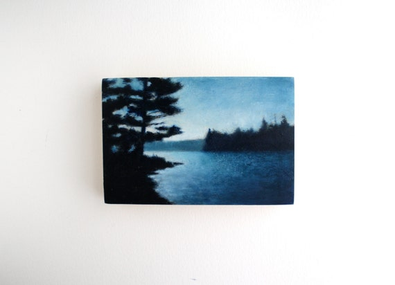 Adirondack Lake Oil Painting - 4 x 6
