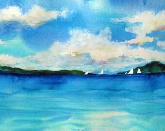 Panoramic Sailboats
