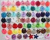 Baby Headband. You Pick 4 Shabby headbands.  Baby Hairbows. Baby Hair Accessories. Infant Headbands. Baby Girl Headbands.