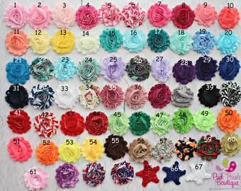 Baby Headband. You Pick 4 Shabby headbands.  Baby Hairbows. Baby Hair Accessories. Infant Headbands. Baby Girl Headbands.