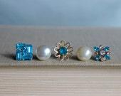 Delightful-Push pins, decorative thumb tacks, vintage jewelry push pins, thumb tacks, push pins, thumb tack set by My Sweet Maison.