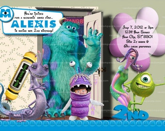 Monsters Inc Invitation, Boo Costume Party, Monsters Inc Invite