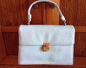 I. Miller Baby Blue Purse Handbag Mad Men 1960s Vintage Style Fashion Purse