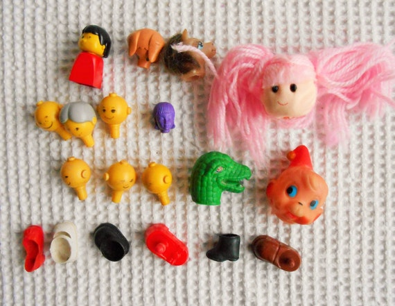 Dolls heads and shoes parts collection bits and pieces for Craft bits and pieces