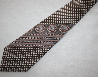 Vintage Mens Necktie Tie  European Collection 100% polyester Retro Mod