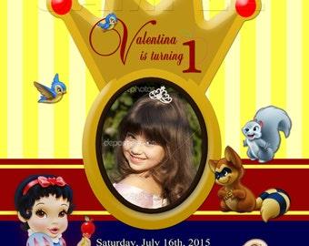 Disney Baby Princess Snow White - Personalized Digital Invitation - Snow White