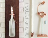 6 HARDWARE ONLY - Wine Bottle Oil Lamp - Christmas Gift idea for Men - Use Your Own Bottles - Hostess Gifts - copper