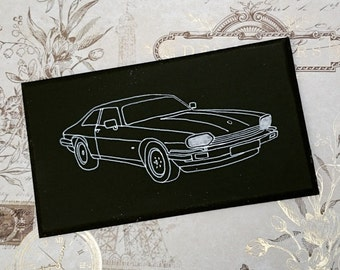 Jaguar XJS XJ-S Illustration Classic Car Wooden Hanging Sign Plaque Hand Painted Gift