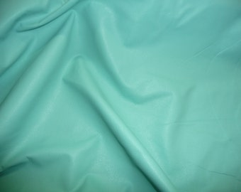 "Leather 8""x10"" PLONGE Pale Robin Egg Blue Garment / Purse Full grain thin Cowhide 1.75oz/.7 mm - PeggySueAlso™"