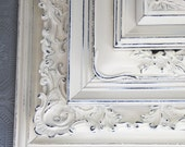 Painted Frame Set Of Ten Shabby Chic Vintage White Hand Painted & Distressed