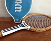 Vintage WoodenTennis Racket Wood Chris Evert Wilson Racquet with Cover