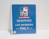 MLB Metal Sign